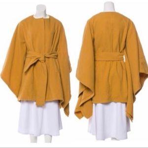 Rachel Zoe Mustard Yellow Belted Coat Cape